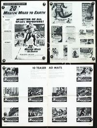2p299 20 MILLION MILES TO EARTH movie pressbook '57 an out-of-space creature invades the Earth!