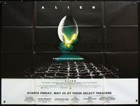 2p132 ALIEN 45x60 subway poster '79 Ridley Scott classic, in space no one can hear you scream!