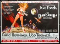 2p131 BARBARELLA subway poster '68 sexiest sci-fi art of Jane Fonda by Robert McGinnis, Roger Vadim