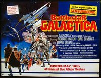 2p133 BATTLESTAR GALACTICA subway movie poster '78 great sci-fi montage artwork!