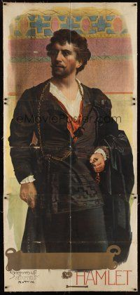 1h166 HAMLET stage play English 3sh 1890s full-length art of stage actor Wilson Barrett!