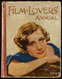 5b174 FILM-LOVERS' ANNUAL first edition English hardcover book '34 photos of top stars of the day!