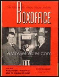 5b097 BOX OFFICE exhibitor magazine March 28, 1953 tons of 3-D articles and ads!