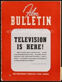 5b073 FILM BULLETIN exhibitor magazine May 17, 1941 Bringing Up Baby, TELEVISION is here!