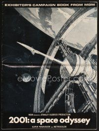 5b322 2001: A SPACE ODYSSEY pressbook '68 Stanley Kubrick, art of space wheel by Bob McCall!