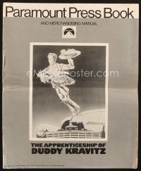 5b327 APPRENTICESHIP OF DUDDY KRAVITZ pressbook '74 Dodge hood ornament Canadian Jewish Dreyfuss!
