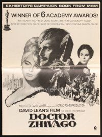 5b346 DOCTOR ZHIVAGO pressbook '67 Omar Sharif, Julie Christie, David Lean epic, Terpning art!
