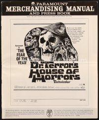 5b349 DR. TERROR'S HOUSE OF HORRORS pressbook '65 Christopher Lee, cool horror art!
