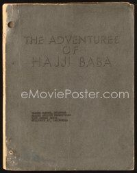 5b293 ADVENTURES OF HAJJI BABA script '54 screenplay by Richards Collins!