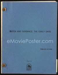 5b296 BUTCH & SUNDANCE - THE EARLY DAYS script February 15, 1978, screenplay by Allan Burns!