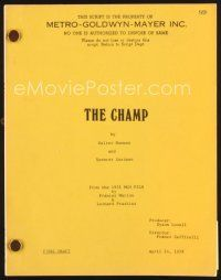 5b297 CHAMP final draft script April 14, 1978, screenplay by Spencer Eastman & Walter Newman!