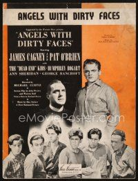 5b247 ANGELS WITH DIRTY FACES sheet music '38 James Cagney, Pat O'Brien, Dead End Kids, title song