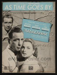5b250 CASABLANCA sheet music '42 Humphrey Bogart, Ingrid Bergman, Michael Curtiz, As Time Goes By!