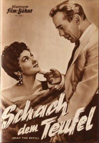 5b201 BEAT THE DEVIL German program '54 Humphrey Bogart & sexy Gina Lollobrigida, different images!