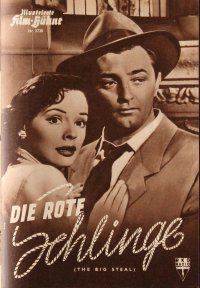 5b202 BIG STEAL German program '55 Robert Mitchum, Jane Greer, William Bendix, Siegel, different!