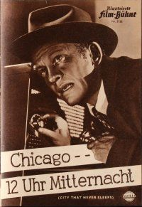 5b205 CITY THAT NEVER SLEEPS German program '55 different images of Gig Young in Chicago!