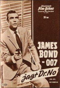 5b211 DR. NO German program '63 different images of Sean Connery as James Bond & Ursula Andress!