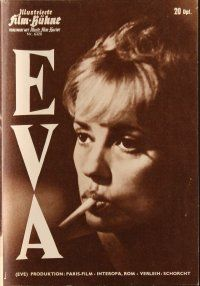 5b214 EVA German program '62 directed by Joseph Losey, sexy Jeanne Moreau, different images!