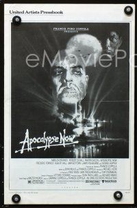 5b326 APOCALYPSE NOW pressbook '79 Francis Ford Coppola, classic Bob Peak art of Brando & Sheen!\