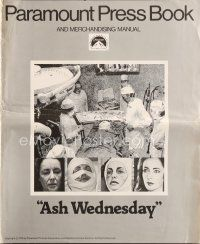 5b328 ASH WEDNESDAY pressbook '73 beautiful aging Elizabeth Taylor gets extensive plastic surgery!