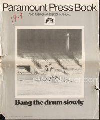 5b330 BANG THE DRUM SLOWLY pressbook '73 Robert De Niro at New York Yankees baseball stadium!