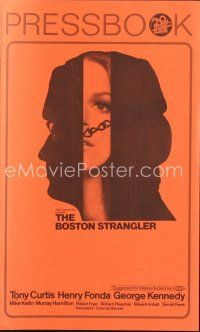 5b338 BOSTON STRANGLER pressbook '68 Tony Curtis, Henry Fonda, he killed thirteen girls!