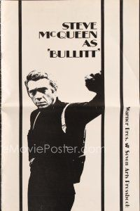 5b340 BULLITT pressbook '68 great images of Steve McQueen, Peter Yates car chase classic!