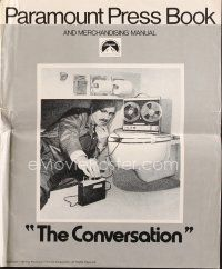 5b343 CONVERSATION pressbook '74 Gene Hackman is an invader of privacy, Francis Ford Coppola