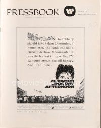 5b347 DOG DAY AFTERNOON pressbook '75 Al Pacino, Sidney Lumet bank robbery crime classic!