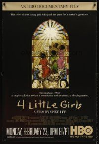 6t197 4 LITTLE GIRLS TV 1sh '98 Spike Lee, Birmingham terrorist bombing!