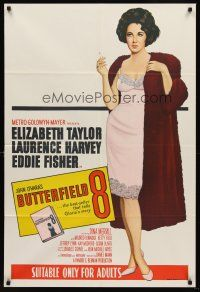 6t119 BUTTERFIELD 8 Aust 1sh R66 callgirl Elizabeth Taylor is most desirable and easiest to find!