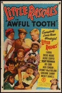6t006 AWFUL TOOTH 1sh R51 Our Gang, Little Rascals, Farina, Joe Cobb, Sunshine Sammy & more!