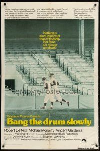 6t007 BANG THE DRUM SLOWLY 1sh '73 Robert De Niro, image of New York Yankees baseball stadium!