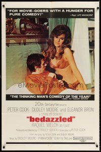 6t011 BEDAZZLED 1sh '68 classic fantasy, Dudley Moore stares at sexy Raquel Welch as Lust!