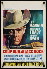 6t362 BAD DAY AT BLACK ROCK Belgian R70s different Wik art of Lee Marvin & Spencer Tracy!