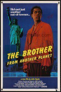 6t203 BROTHER FROM ANOTHER PLANET 1sh '84 John Sayles, alien Joe Morton & Statue of Liberty!