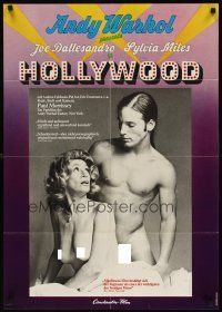 6t129 ANDY WARHOL'S HEAT German '73 naked Joe Dallesandro & Sylvia Miles, Hollywood!