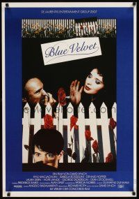 6t276 BLUE VELVET German '86 David Lynch directed, Isabella Rossellini, Dennis Hopper, MacLachlan!