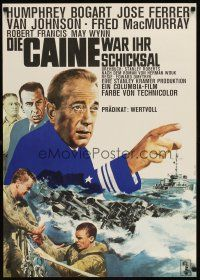 6t277 CAINE MUTINY German R66 art of Humphrey Bogart, Jose Ferrer, Van Johnson & Fred MacMurray!