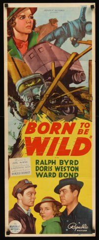 6t176 BORN TO BE WILD insert '38 cool art of truckers driving to dynamite a dam!