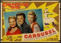 6t304 CAROUSEL Italian photobusta '56 pretty Shirley Jones, Gordon MacRae & Barbara Ruick!