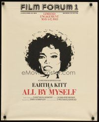 6t239 ALL BY MYSELF special 20x24 '83 Eartha Kitt biography, cool art of singer!