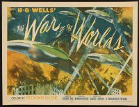 6w001 WAR OF THE WORLDS style B 1/2sh '53 HG Wells classic George Pal, best warships attacking art!