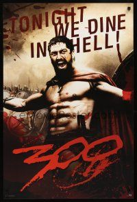 8a576 300 commercial poster '07 Zack Snyder directed, Gerard Butler, tonight we dine in HELL!