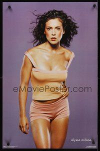 8a581 ALYSSA MILANO commercial poster '00 great portrait of sexy actress in skimpy outfit!