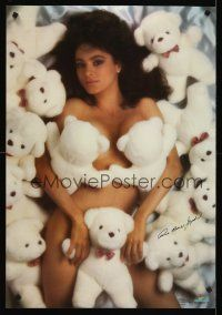 8a583 ANNA MARIE JOYNER commercial poster '88 super sexy image covered only in teddy bears!