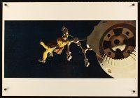 8a354 2001: A SPACE ODYSSEY 3 color Italian/Eng 27.5x39.25 stills '68 images in Cinerama format!
