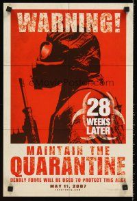 8a447 28 WEEKS LATER mini poster '07 Catherine McCormack, Robert Carlyle, zombies!
