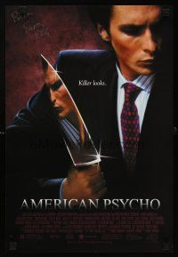 8a456 AMERICAN PSYCHO signed mini poster '00 by Bret Easton Ellis, author of the source novel!