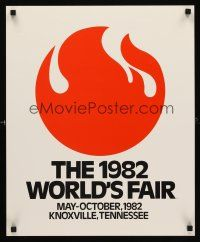8a044 1982 WORLD'S FAIR special 18x22 '81 Knoxville, Tennessee, cool art of flames!
